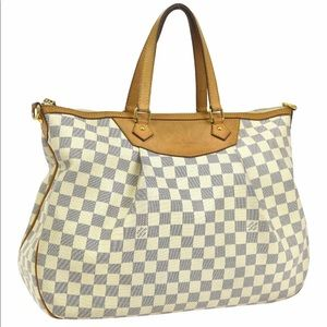 Authentic Louis Vuitton Siracusa GM Azur 2Way Bag